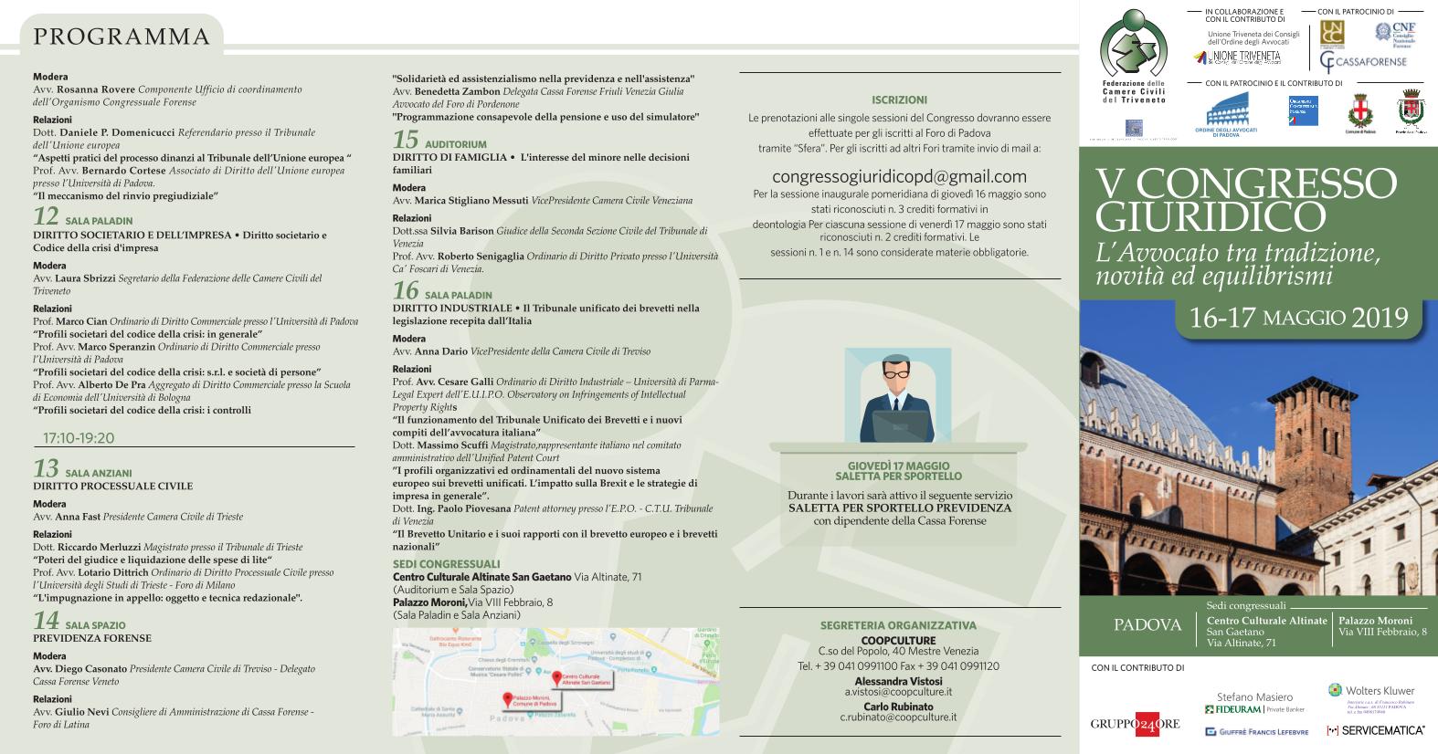 Congresso Federazione Triveneta 2019 PIEGHEVOLE
